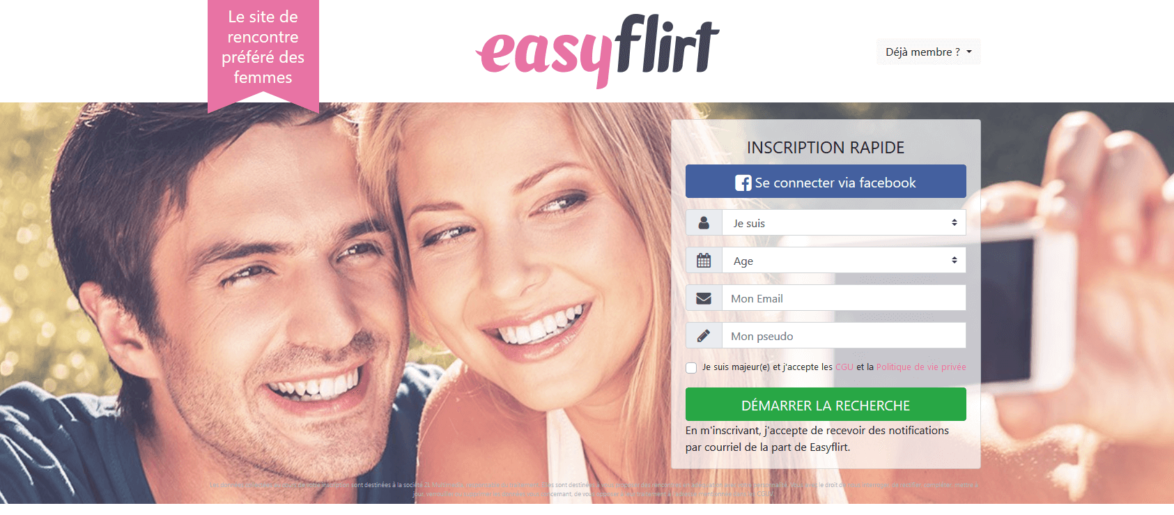 easyflirt page accueil