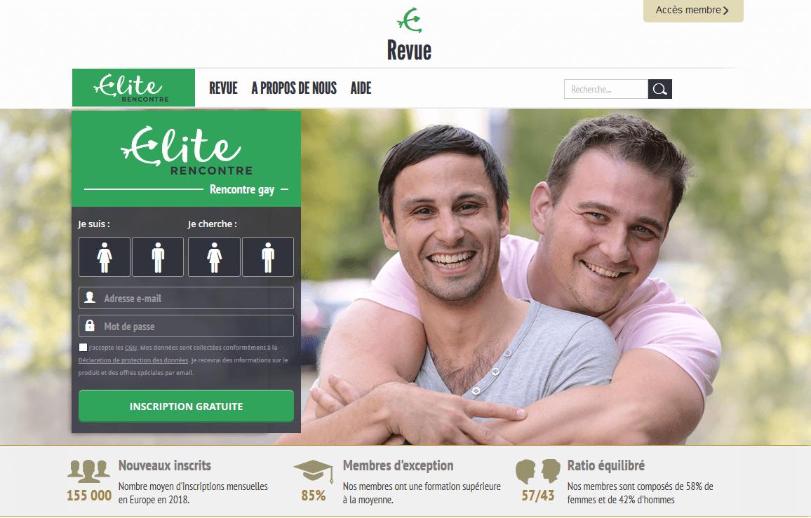 page accueil elite gay rencontre
