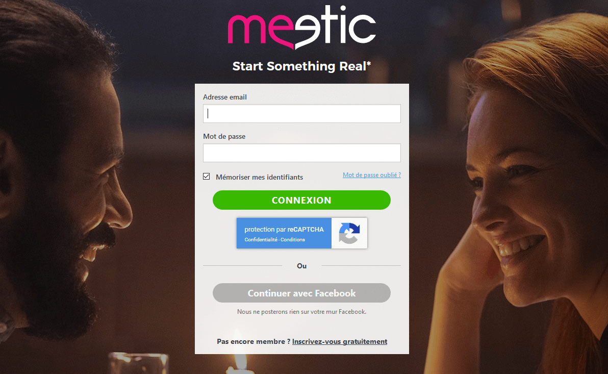 Meetic comment se connecter