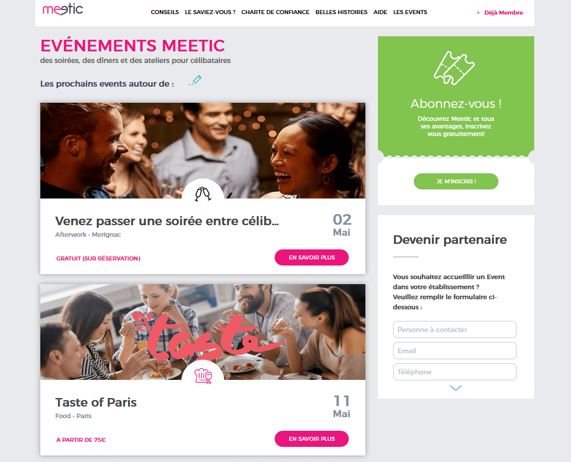 Meetic Events