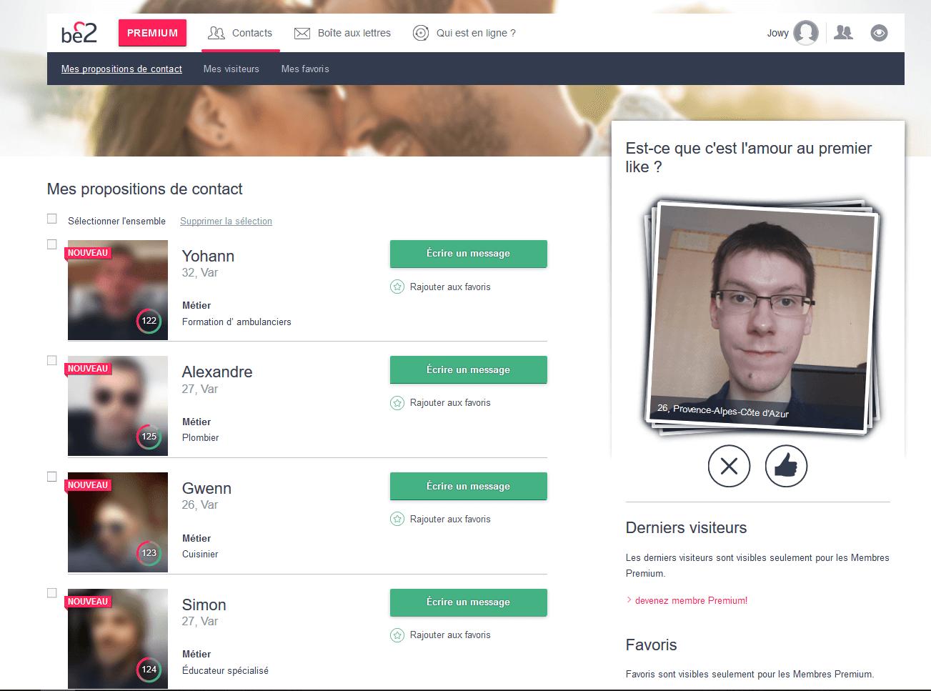 Be2 accueil profil