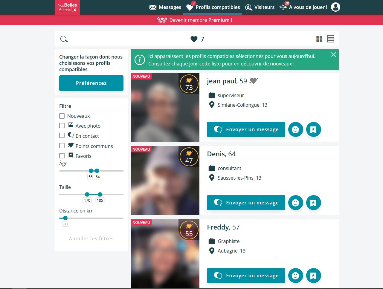 Profils compatibles